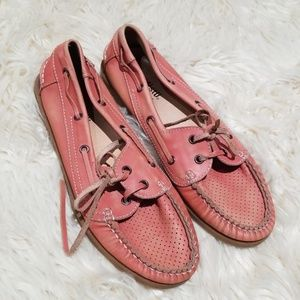 Bed Stu vintage look pink leather loafers 8 EUC